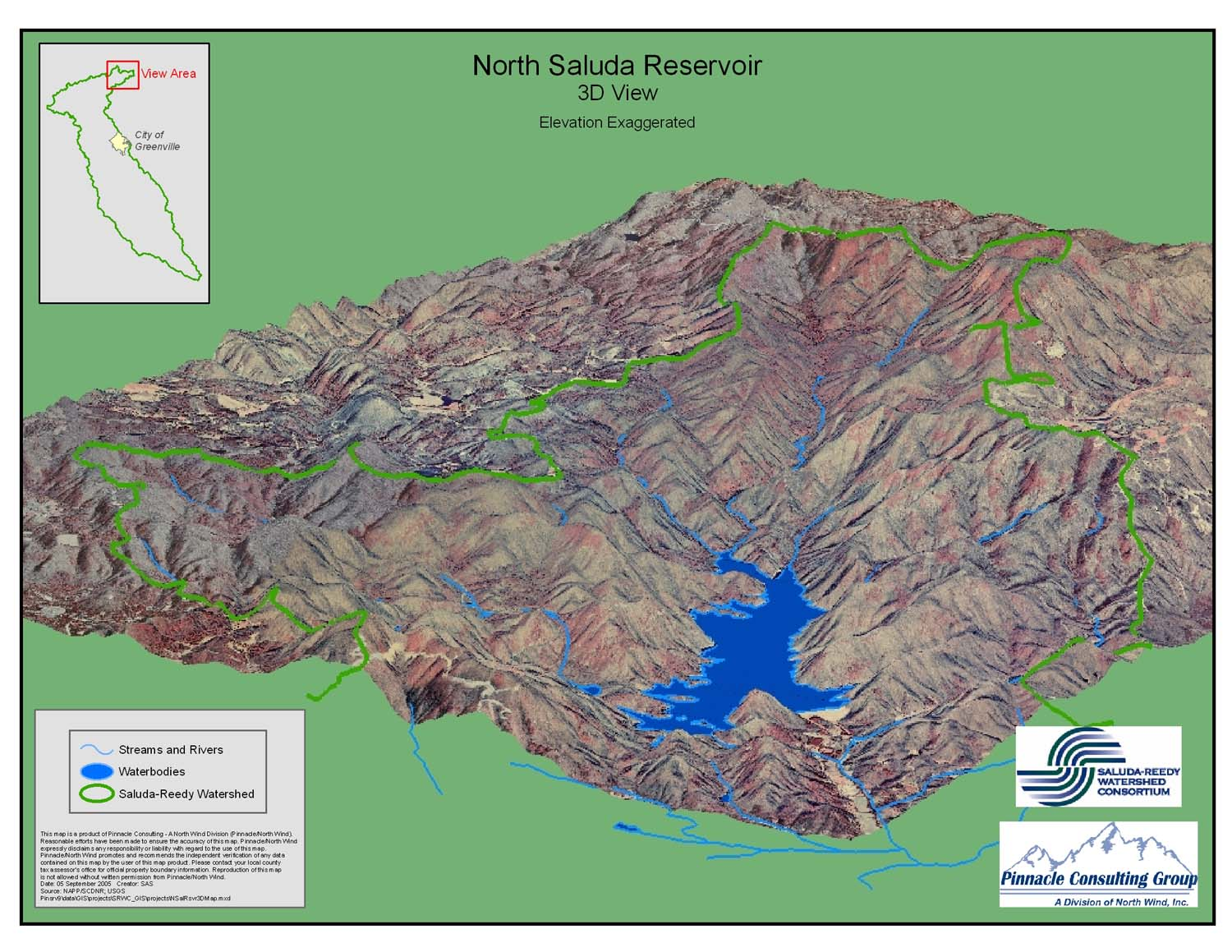SaludaReedy Watershed Maps
